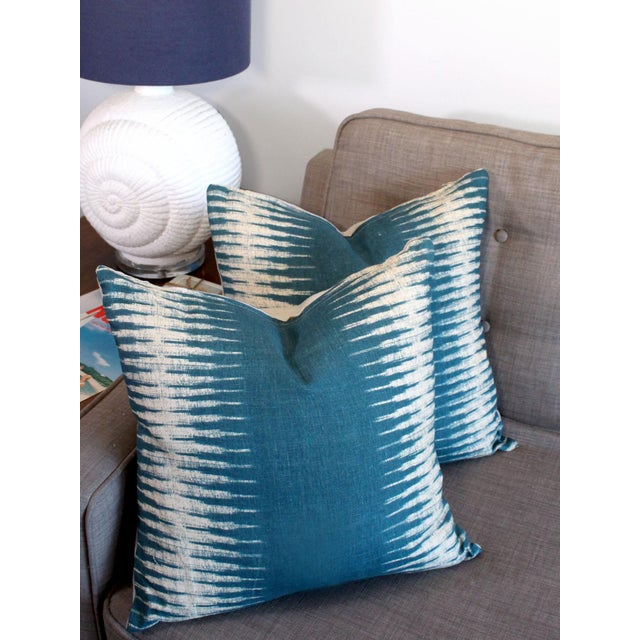 Peter Dunham Ikat Pillow Pair For Sale In Los Angeles - Image 6 of 7