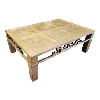 Henredon Coffee Table With Asian / Chinese Detail For Sale