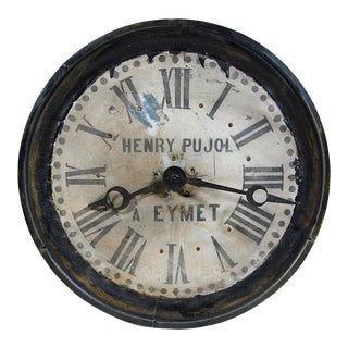 1812 Vintage French 'Henry Pujol' Clock For Sale