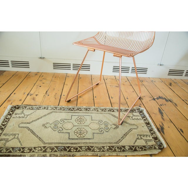 "Vintage Turkish Oushak Runner - 1'6"" x 3'2"" - Image 3 of 5"