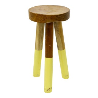 Serena & Lily Yellow Dip-Dyed Stool For Sale