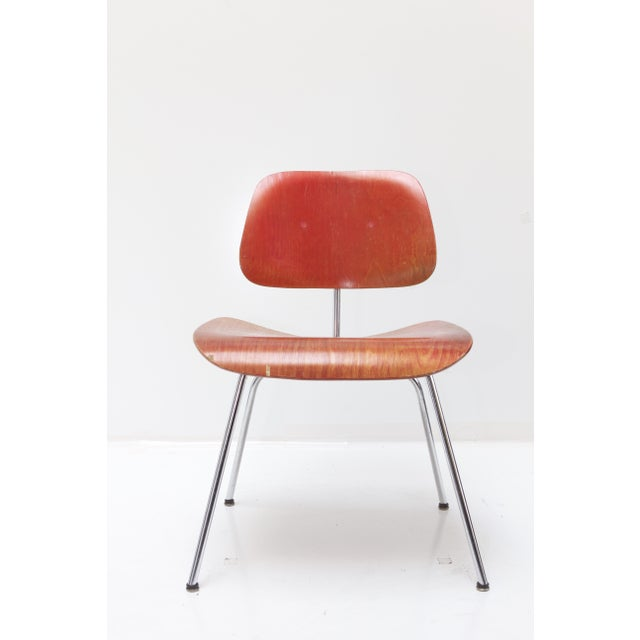 Herman Miller DCM Chair Red Aniline - Image 2 of 11