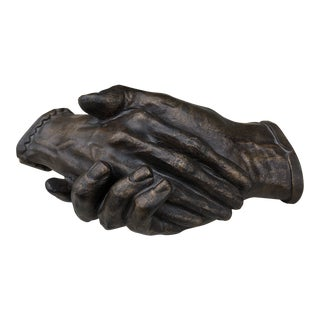 Vintage Bronze Style Cast Resin Human Hand Sculpture For Sale