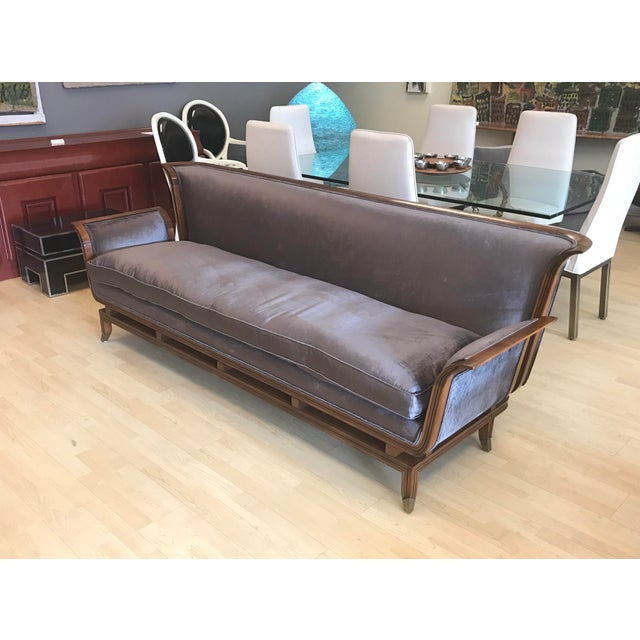 1950s 1950s Mid-Century Modern James Mont Style Walnut Sofa For Sale - Image 5 of 10