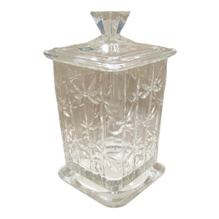 Large Irish Lead Crystal Biscuit Jar
