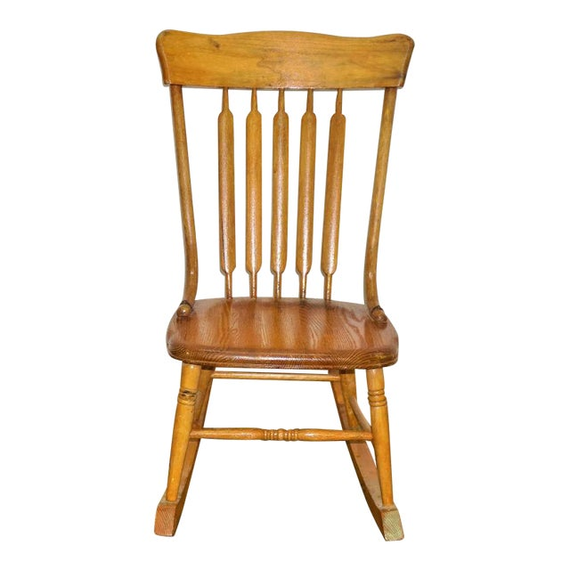 Vintage Russell Wright Maple Wood Rocking Chair For Sale