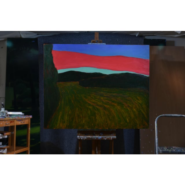 """Contemporary """"Sunset Over Tilled Fields"""" Large Painting by Stephen Remick For Sale - Image 3 of 11"""