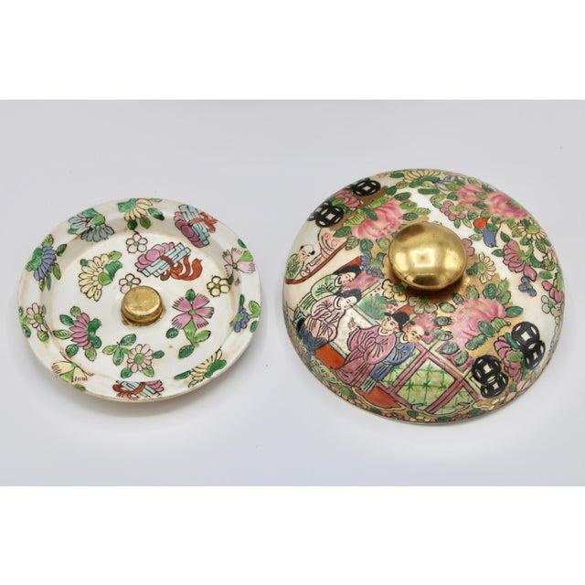 Rose 18th Century Chinese Rose Medallion Porcelain Lidded Jar For Sale - Image 8 of 12