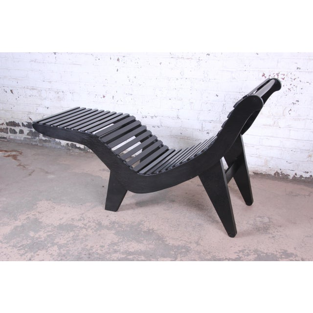 Klaus Grabe Contoured Chaise Lounge Chair, Newly Ebonized For Sale - Image 11 of 12