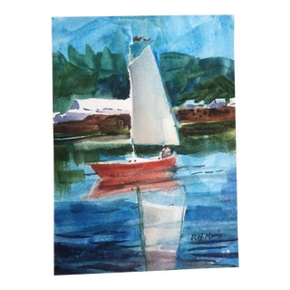 2018 DH Morris Sailboat Painting For Sale