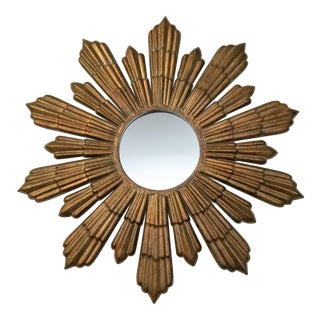 Mid-Century Style Starburst Wall Mirror For Sale
