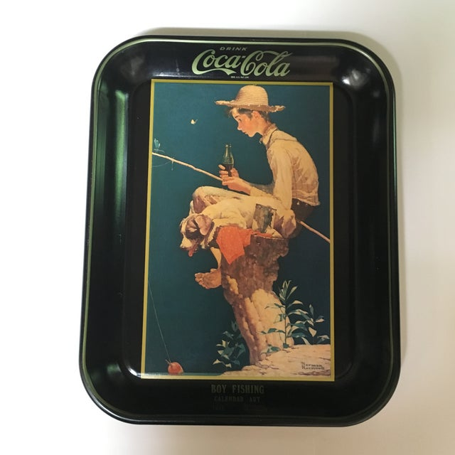 Boy Fishing, Norman Rockwell Coca-Cola Tray 1935 - Image 6 of 6