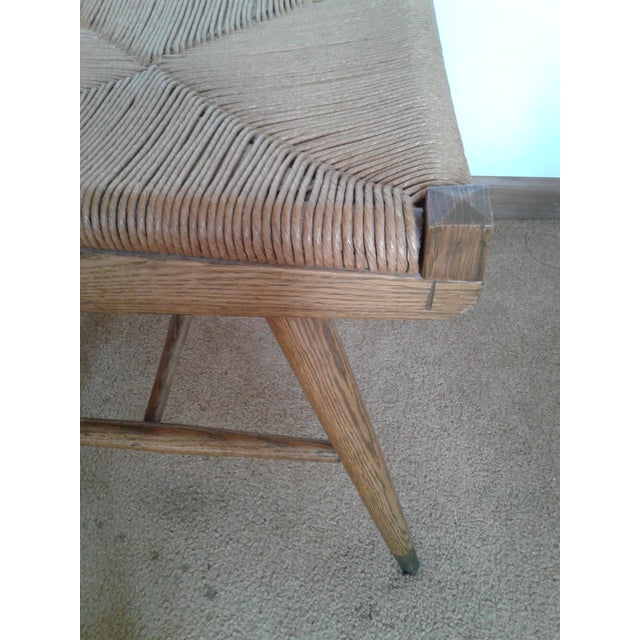 Mid-Century Modern Rush and Hardwood Side Chair For Sale In Chicago - Image 6 of 12