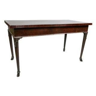 Georgian Mahogany Serving Table, Possibly Irish For Sale