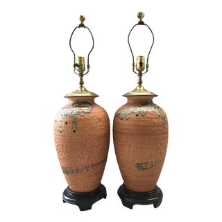 Mid Century Modern Pottery Lamps For Sale