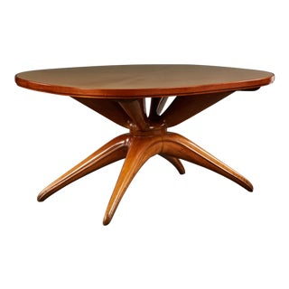 Dramatic Oval Table Attributed to Osvaldo Borsani For Sale