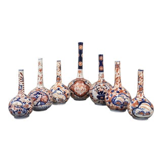 Collection of Seven 19th Century Imari Bud Vases For Sale
