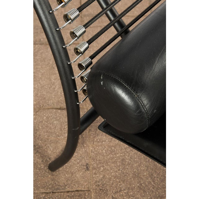 1980s Vintage Postmodern Italian Chaise Lounge Chair For Sale - Image 10 of 11