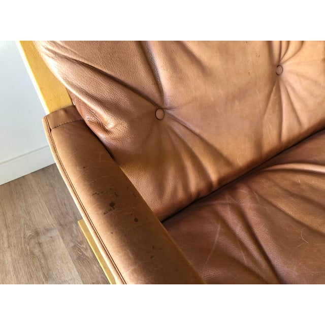 Ingmar Relling for Westnofa Mid-Century Modern Leather Siesta Chair With Ottoman For Sale - Image 10 of 13