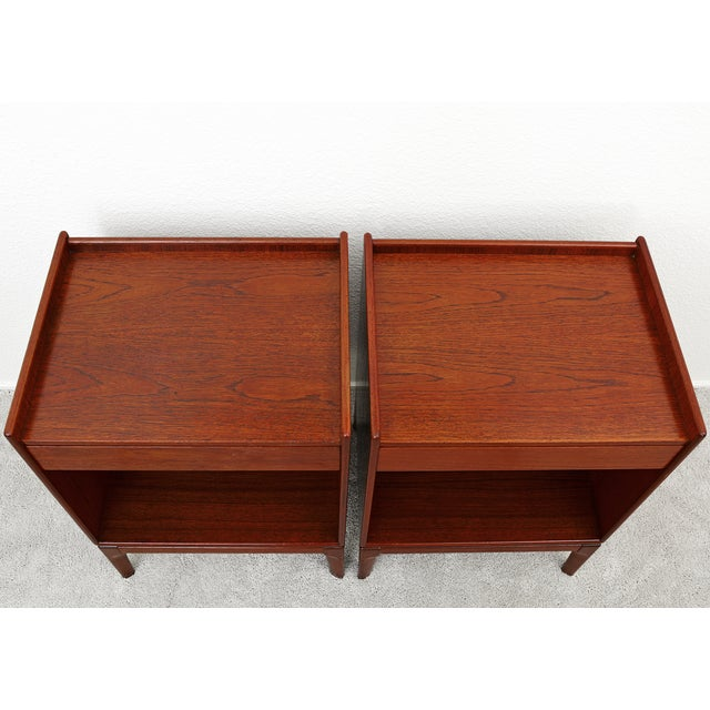 Soborg Mobler Borge Mogensen Teak Nightstands for Soborg Mobler - a Pair For Sale - Image 4 of 12