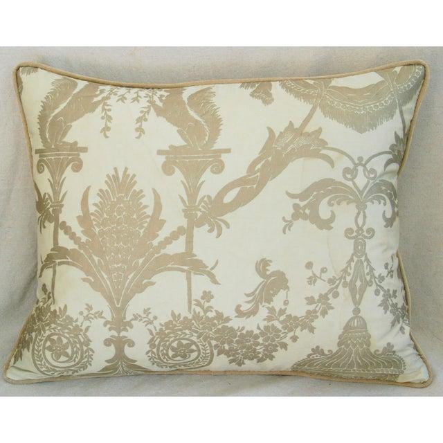 Designer Italian Fortuny Lamballe Pillows - Pair - Image 4 of 11
