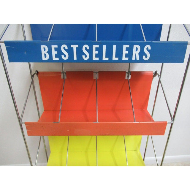 Vintage Chrome Multicolor Book Rack - Image 8 of 11