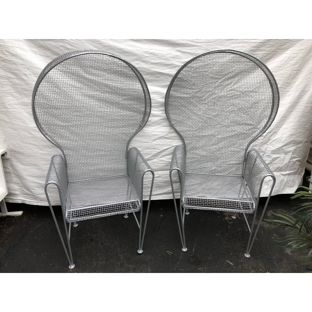 Pair of High Back Outdoor Canopy Chairs by Russell Woodard For Sale - Image 10 of 12