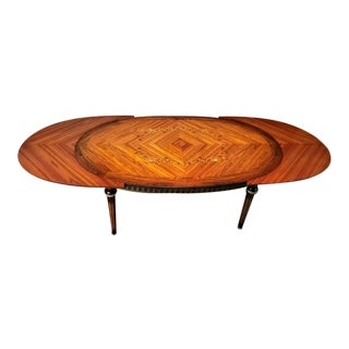 Jp Ehalt French Louis XVI Rosewood Marquetry Extendable Dining Table For Sale