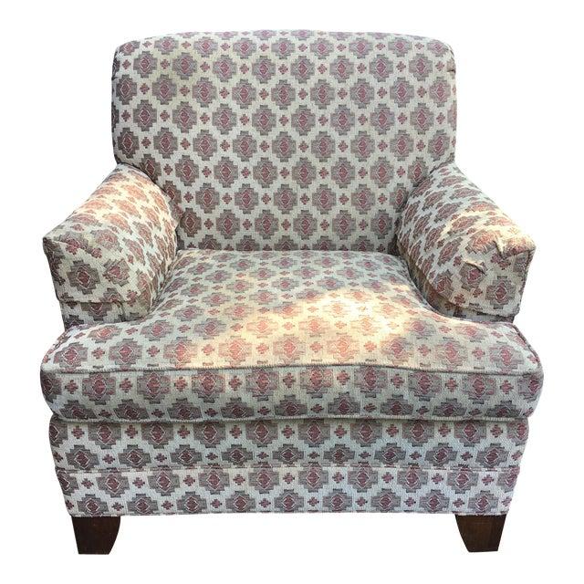 Ethan Allen Kilim Club Chair - Image 1 of 7