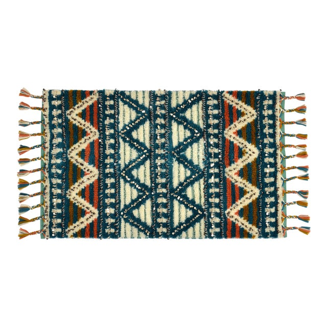 Moroccan Style Wool Sequin Tassel Rug/Wall Hanging - 3' x 5' - Image 1 of 6