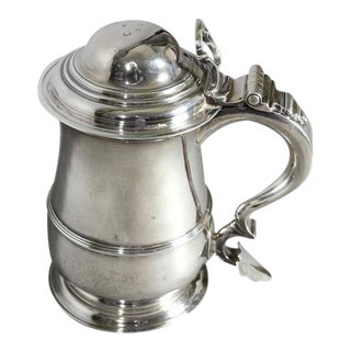 George II Sterling Tankard by Richard Bayley For Sale