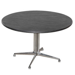 "1960s Mid-Century Modern Charles and Ray Eames for Herman Miller Chrome and Slate ""La Fonda"" Table For Sale"