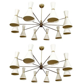 Stilnovo Style Chandeliers For Sale
