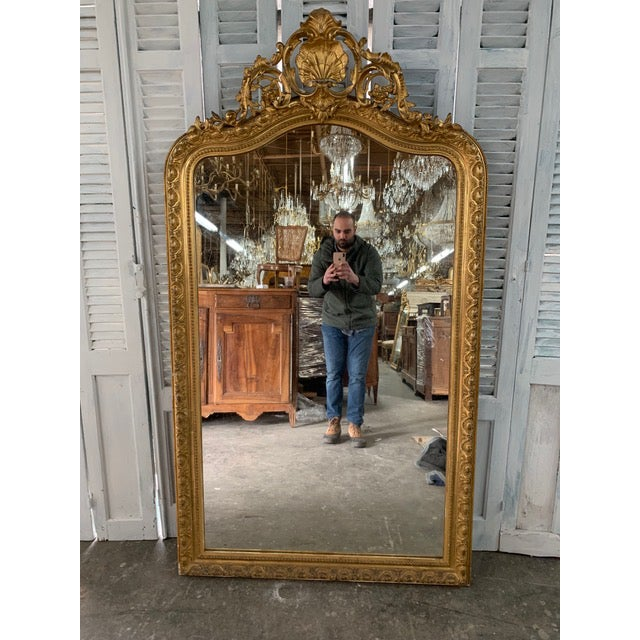Glass 18th Century French Louis Philippe Period Mirror For Sale - Image 7 of 7