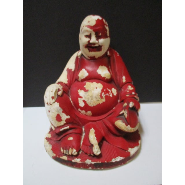 Vintage Red Happy Buddha - Image 6 of 10
