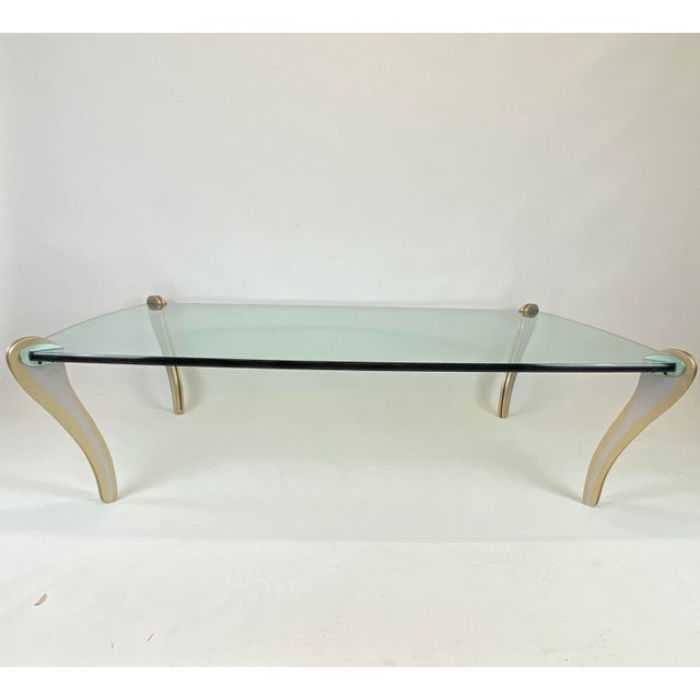 Postmodern Metal & Glass Studio Made Coffee Table by Peter Handler For Sale - Image 13 of 13