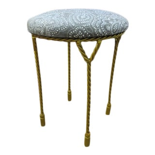 Vintage Antique Round Stool For Sale