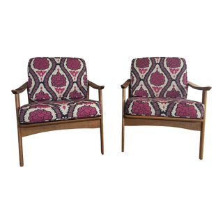 Vintage Mid-Century Wooden Chairs, 1960s - A Pair