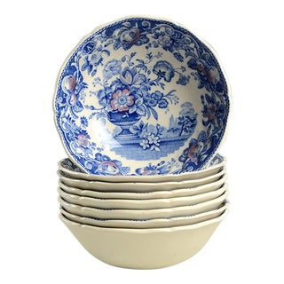 Royal Doulton Pomeroy Blue Individual Bowl - Set of 8 For Sale