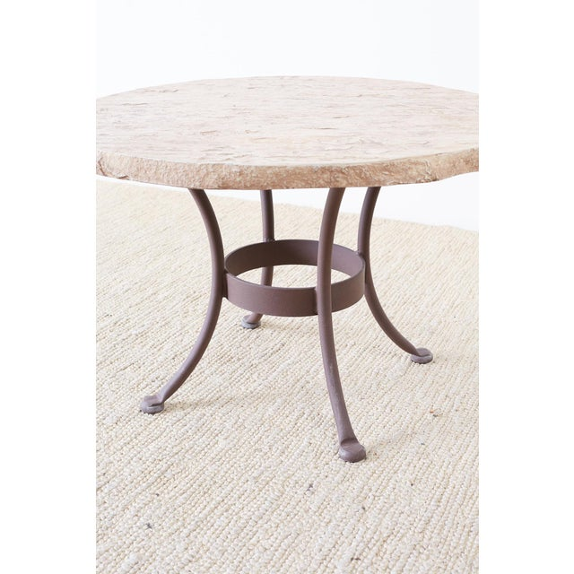 Pair of o.w. Lee Faux-Stone Patio Garden Drink Tables For Sale - Image 12 of 13