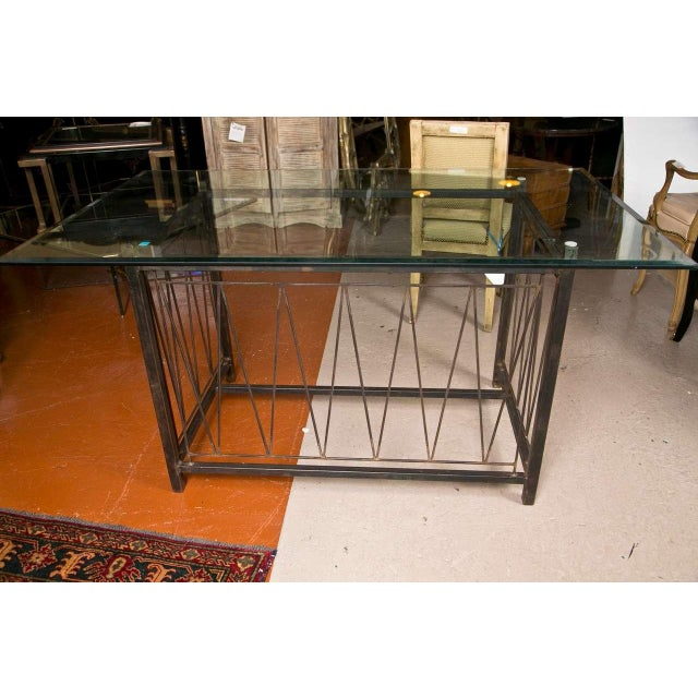 A Deigo Giacometti Style Metal Base Desk For Sale In New York - Image 6 of 8