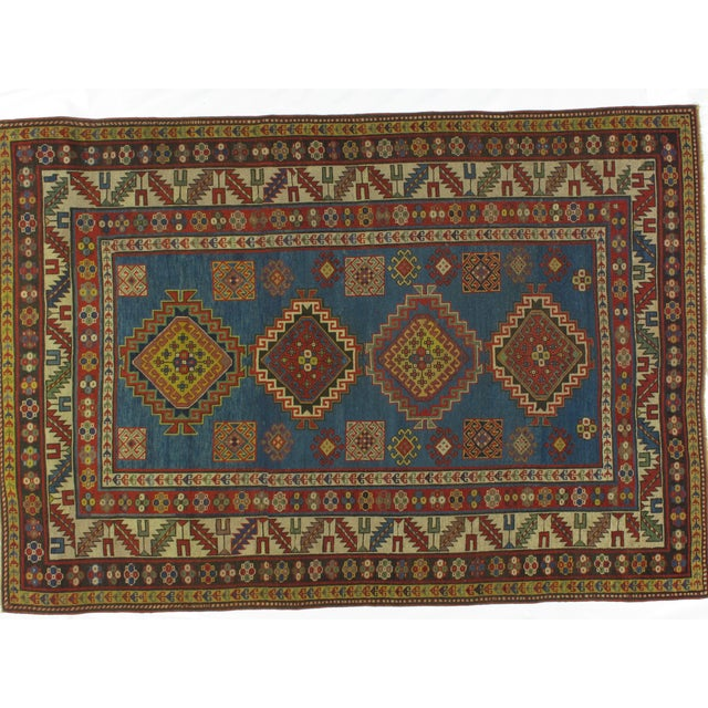Antique Kazak Carpet - 5′2″ × 7′ - Image 3 of 6