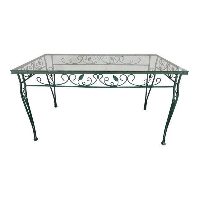Vintage Salterini Patio Dining Table For Sale