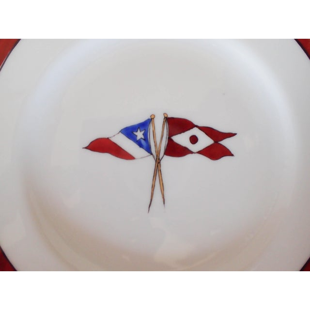 Circa 1902 Hartford Yacht Club Flags Bread Plates - Set of 8 - Image 5 of 6