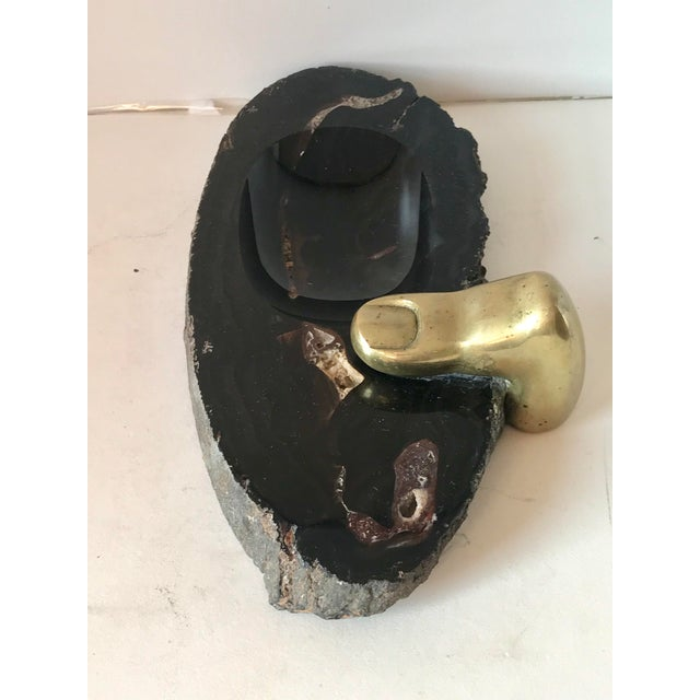 Stone and Brass Dish by Checacco For Sale In New York - Image 6 of 10