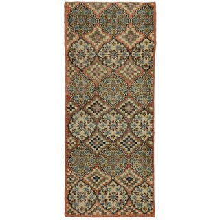 Vintage Mid-Century Turkish Zeki Muren Sivas Accent Rug - 3′ × 7′2″ For Sale
