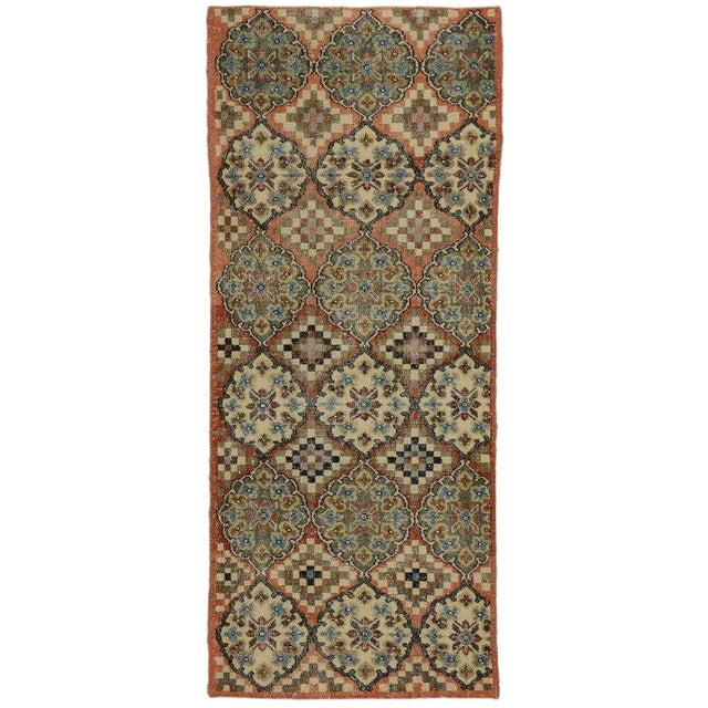 Vintage Mid-Century Turkish Zeki Muren Sivas Accent Rug - 3′ × 7′2″ For Sale