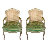 Image of Armchairs - Antique French Armchairs - a Pair For Sale