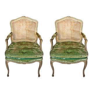 Armchairs - Antique French Armchairs - a Pair