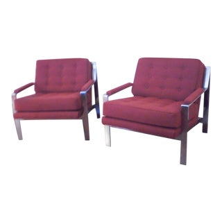 1970s Mid-Century Modern Cy Mann Chairs - a Pair For Sale